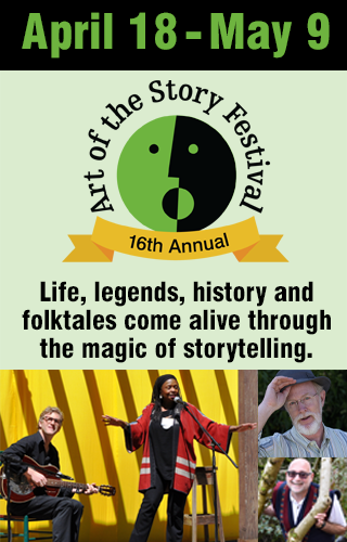 16th Annual Art of the Story Festival logo with images of tellers