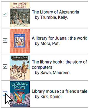 Select multiple items in alternate catalog