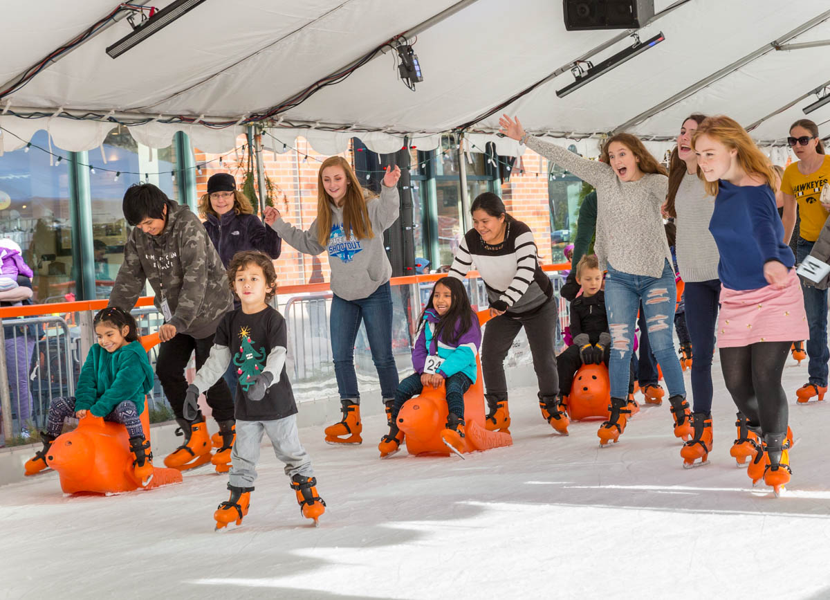 Ice Skaters at Winter Village