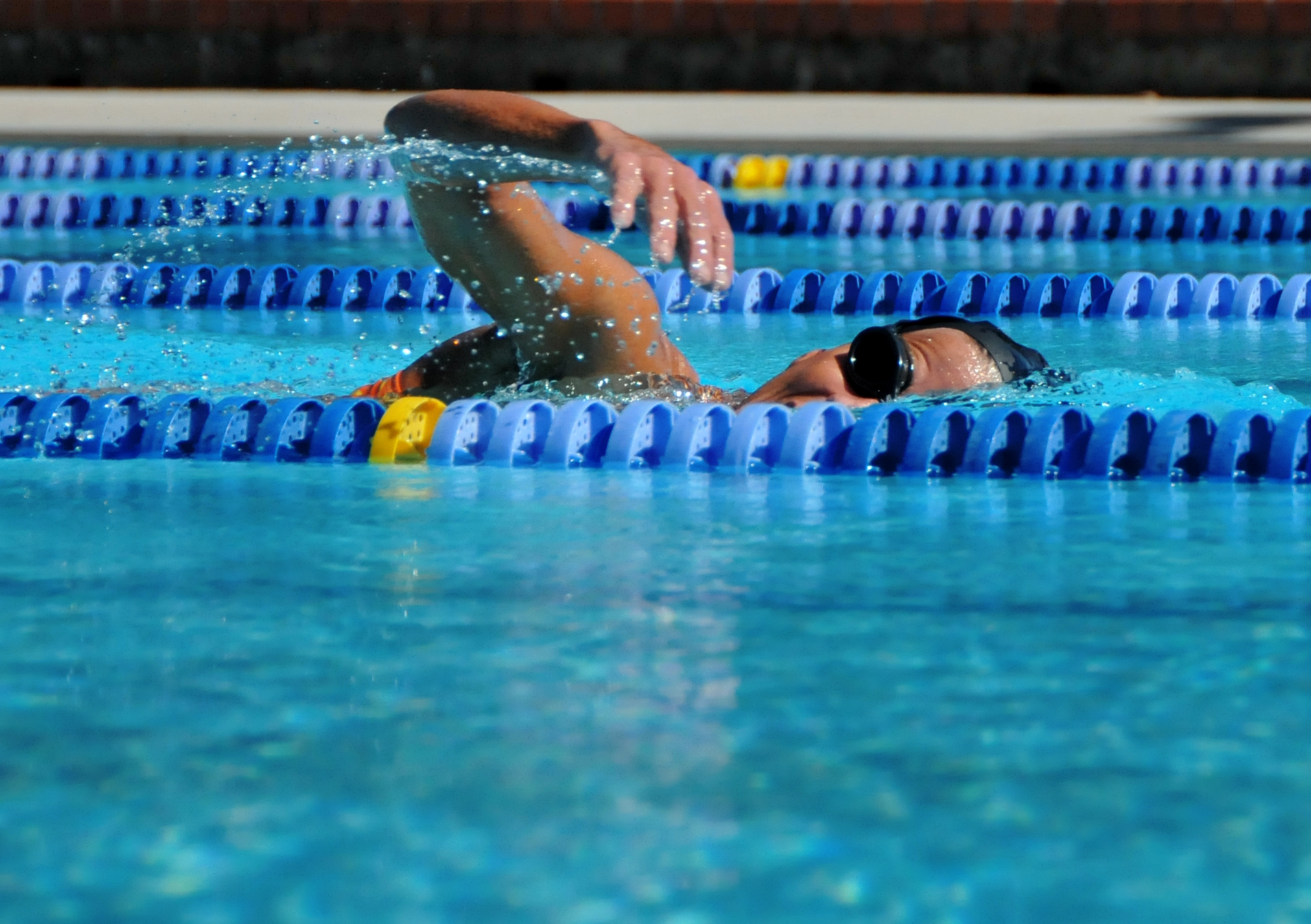 Swimmer in pool at Shute Park Aquatic and Recreation Center