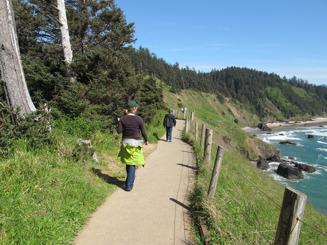 Hikers at Ecola State Park