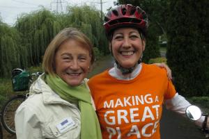 Pam Treece and Councilor Harrington