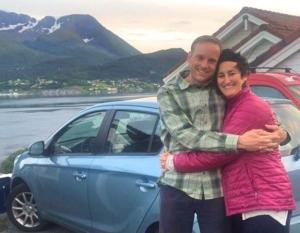Hillary Ostlund in Norway with Kjell