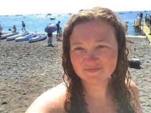 Kristen on the Amalfi coast